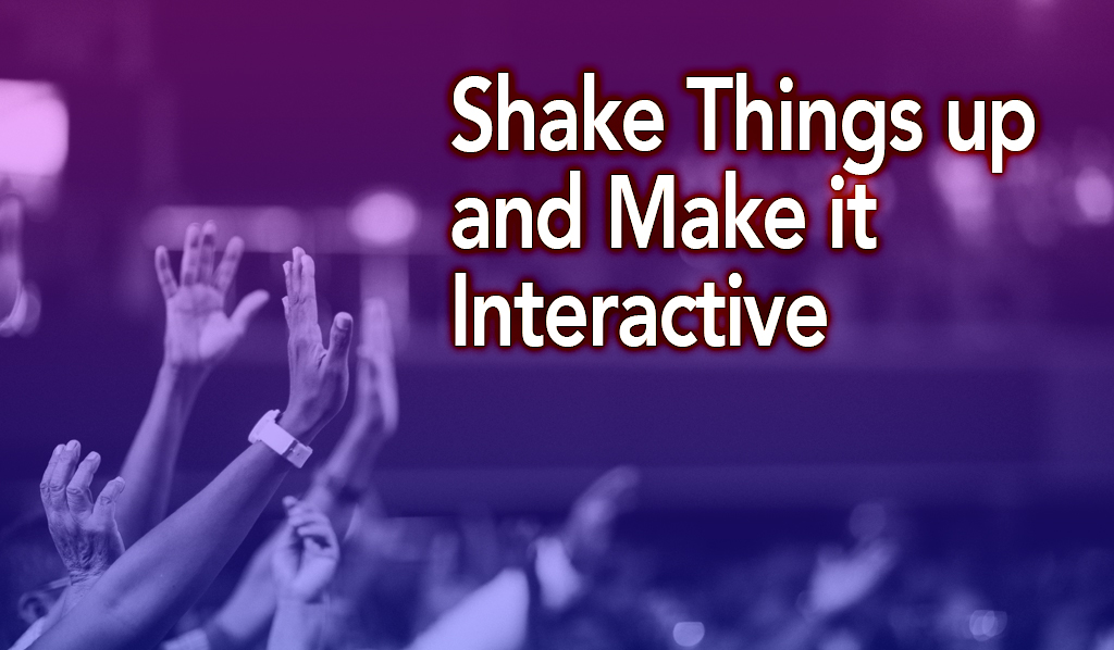 Boost Engagement at Your Corporate Event   Shake Things up and Make it Interactive